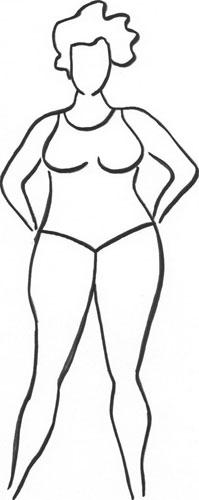Körperform Sanduhr