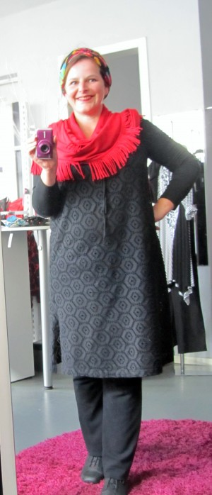plus size outfit spitze