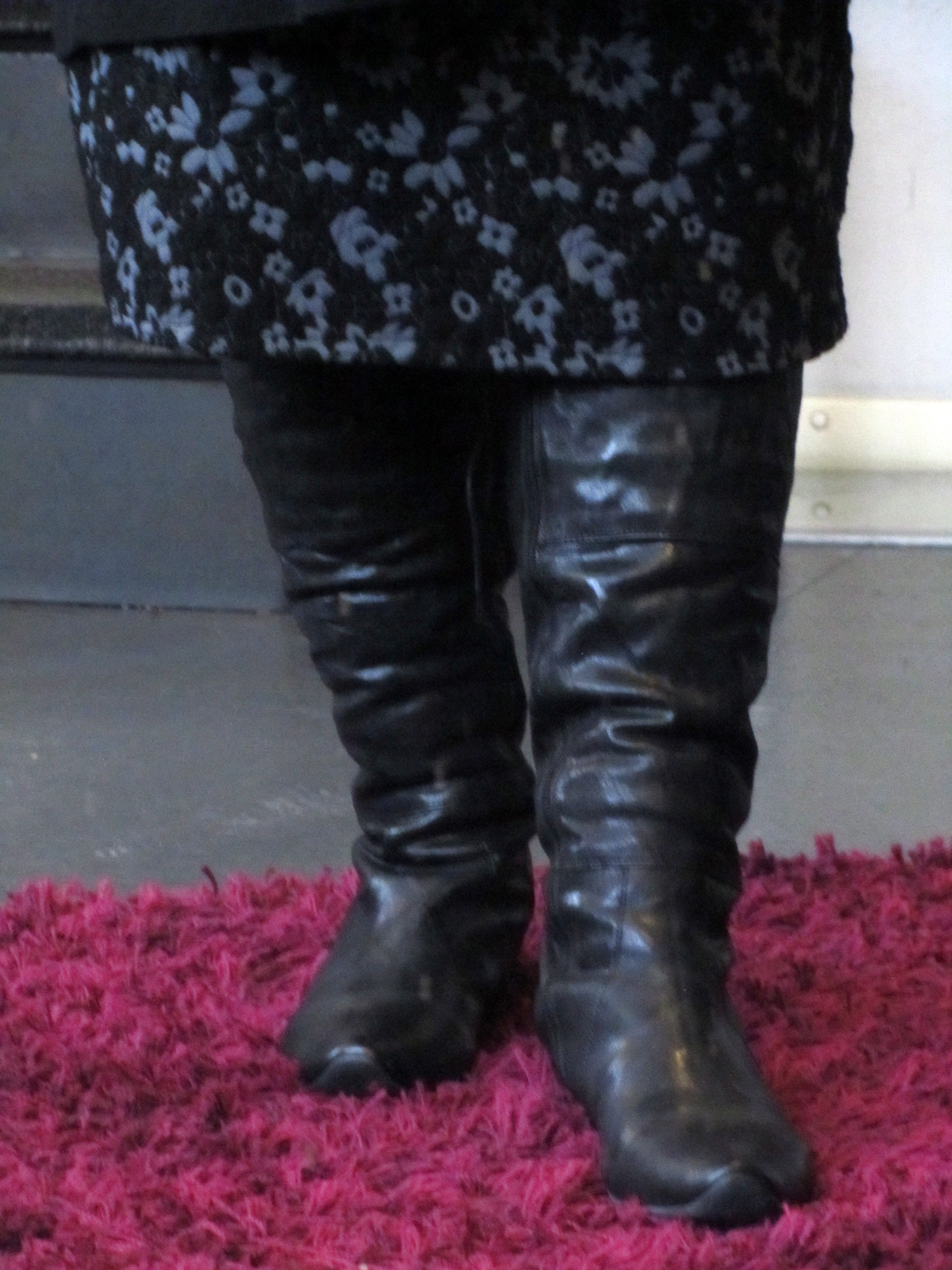 plus size outfit think stiefel