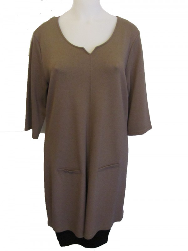 Kleid 60s taupe