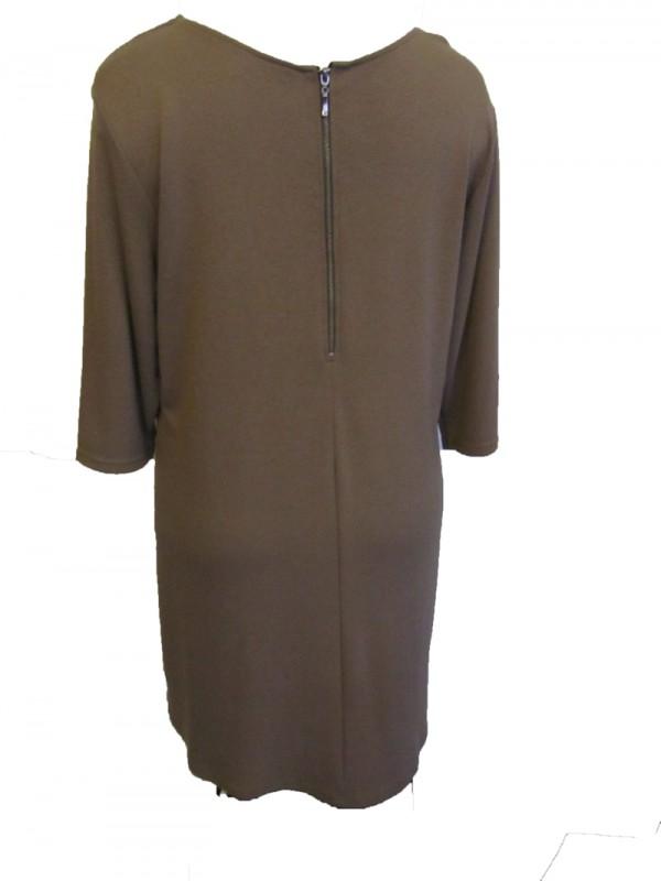 Kleid 60s taupe hinten