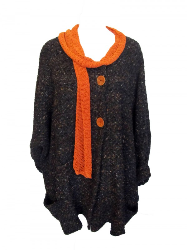 Strickjacke Grau Second