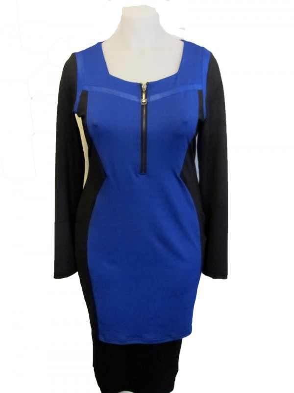 kleid colorblocking