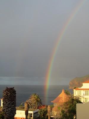mein ausblick madeira regenbogen