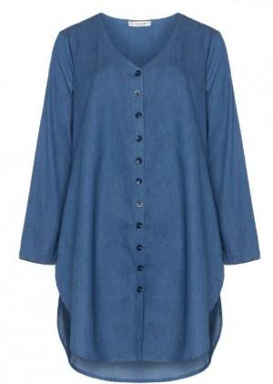 denim kleid navabi große größen