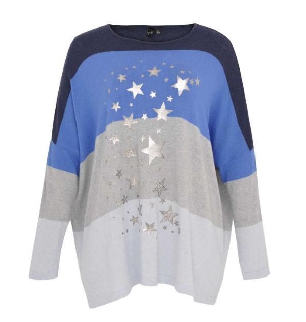 Pullover Streifen und Sterne Yoek