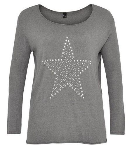 91b36ec7f8a4 Yoek hat Pullis mit Sternen auch für große Größen!!! - XXL-Mode Tipps