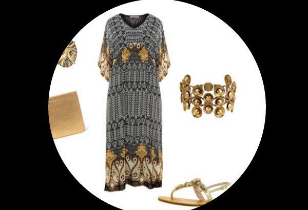 outfit idee xxl maxikleid