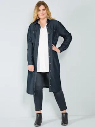 Sara Lindholm Jeanskleid mit Bindegürtel Meyer Mode